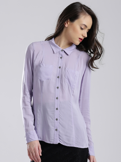 GUESS Lavender Panelled Shirt