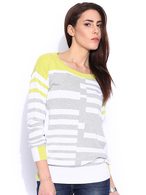Lee Navy & White Striped Sweater