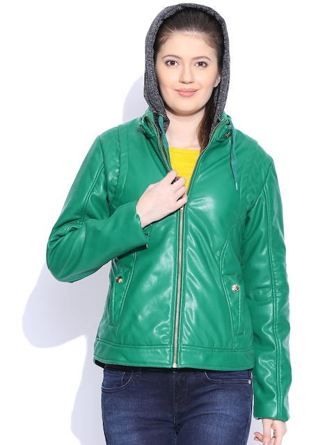 Fort Collins Green Jacket with Detachable Hood