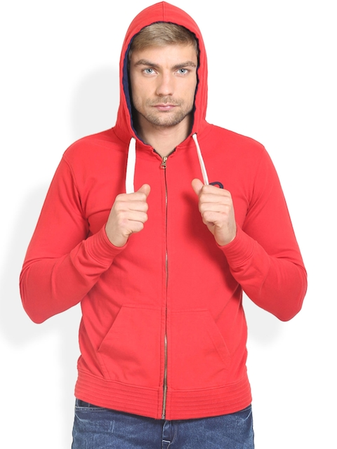 THISRUPT Red Hooded Sweatshirt
