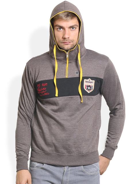 THISRUPT Grey Hooded Sweatshirt