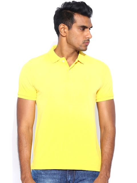 United Colors of Benetton Yellow Polo T-shirt