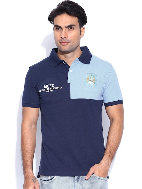 Manchester City FC Navy Polo T-shirt
