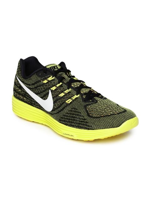 Nike Men Black & Yellow LunarTempo 2 Running Shoes