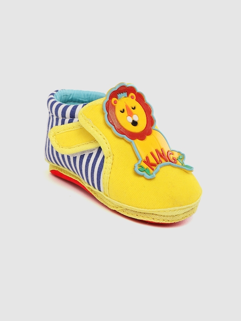 Fisher Price Apparel Kids Yellow & Blue Striped Booties