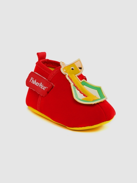 Fisher Price Apparel Kids Red Applique Booties