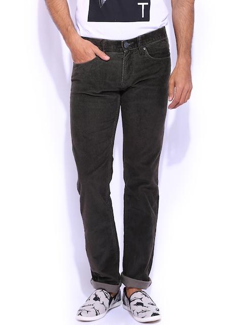 Killer Brown Corduroy Slim Fit Trousers