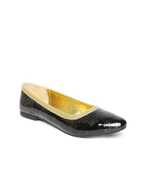 Bata Women Black Printed Flat Shoes