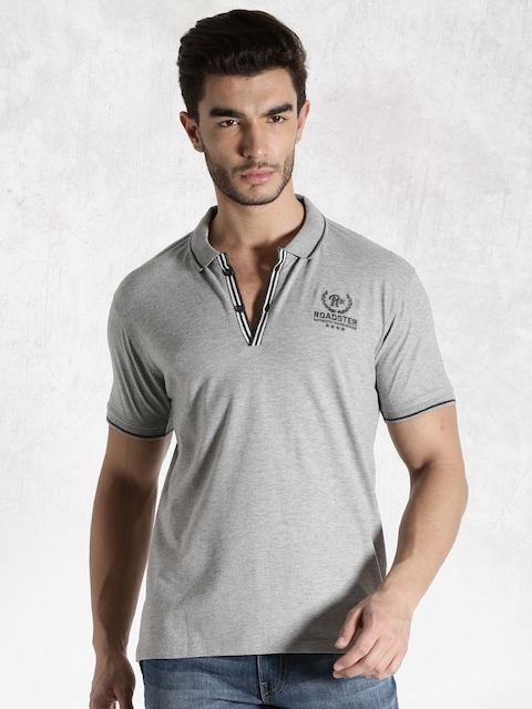 Roadster Grey Polo T-shirt