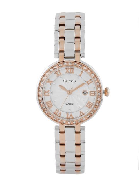 Casio Sheen SHE-4034BSG-7AUDR (SX156) Analog Silver Dial Women's Watch