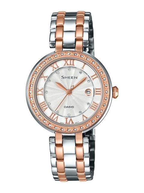 Casio Sheen SHE-4034BSG-7AUDR (SX156) Analog Silver Dial Women's Watch (SHE-4034BSG-7AUDR (SX156))