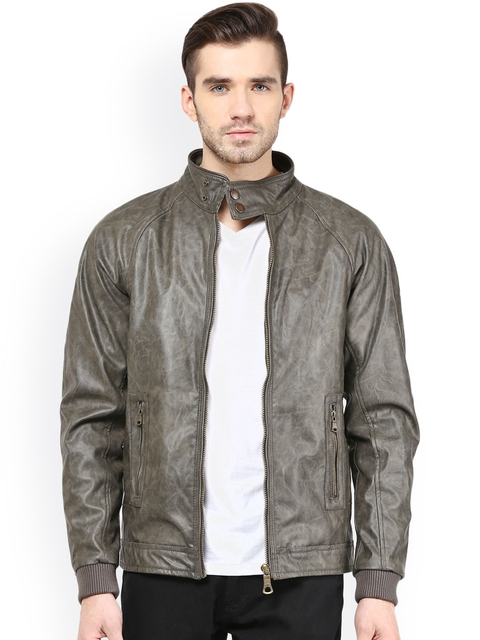 Monteil & Munero Olive Green Jacket  available at myntra for Rs.1919