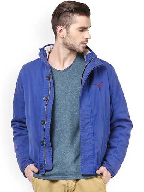 Monteil & Munero Blue Jacket  available at myntra for Rs.1999