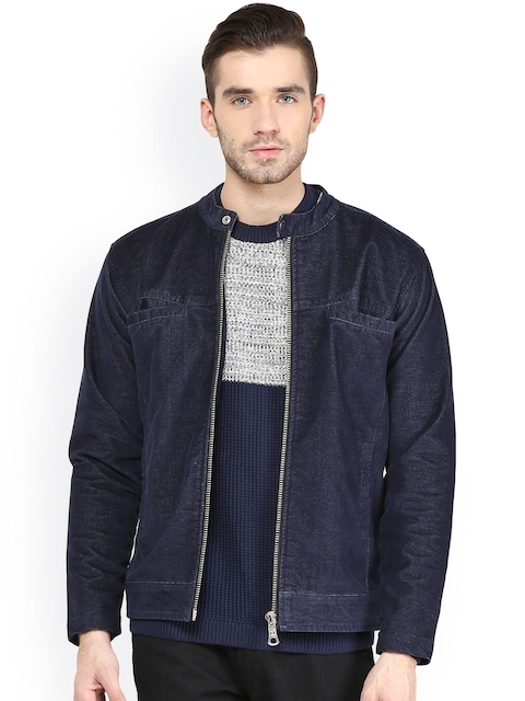 Monteil & Munero Blue Corduroy Jacket  available at myntra for Rs.1749