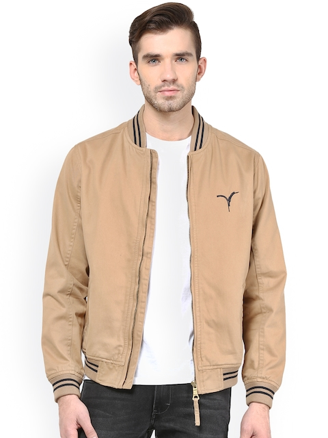Monteil & Munero Khaki Jacket  available at myntra for Rs.1399