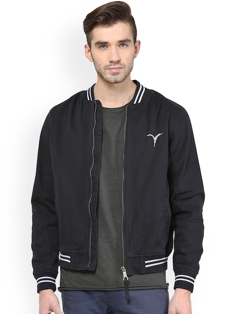 Monteil & Munero Navy Jacket  available at myntra for Rs.1049