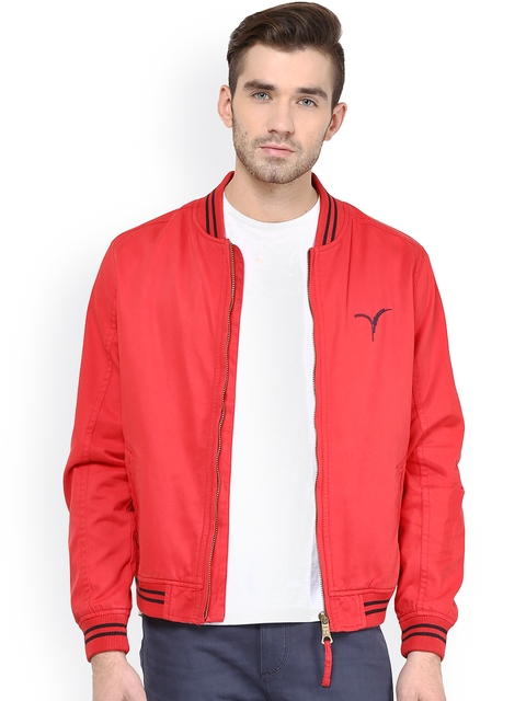 Monteil & Munero Red Jacket  available at myntra for Rs.1749