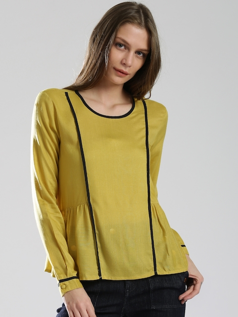 DressBerry Mustard Yellow Top