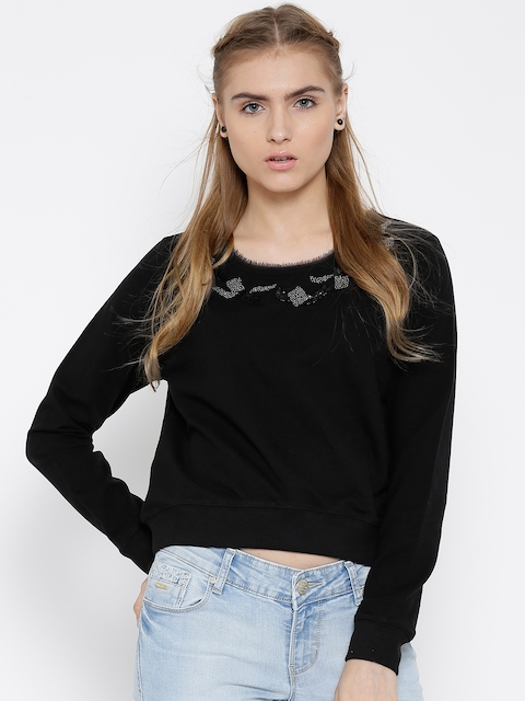 Noble Faith Black Cropped Sweatshirt