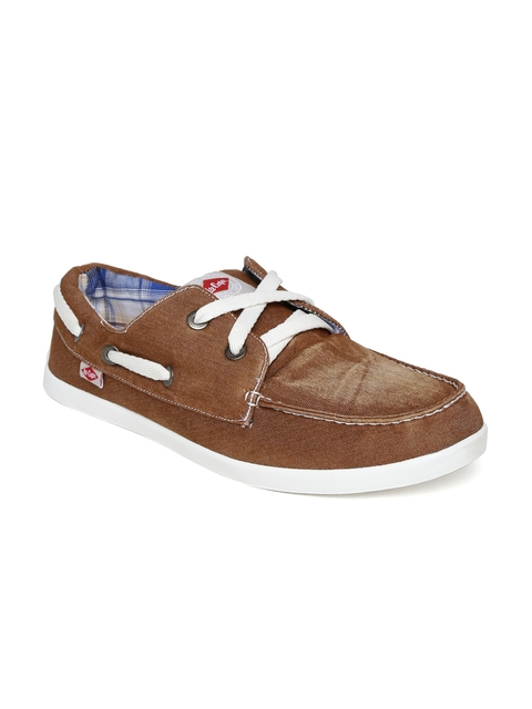 Lee Cooper Men Brown Boat Shoes
