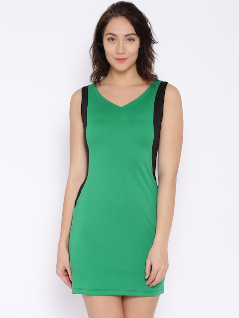 CODE by Lifestyle Green & Black Bodycon Dress