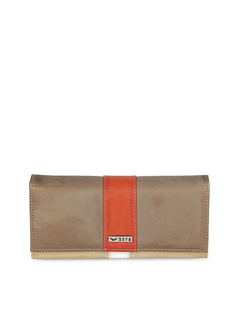 Bern Women Orange & Brown Wallet