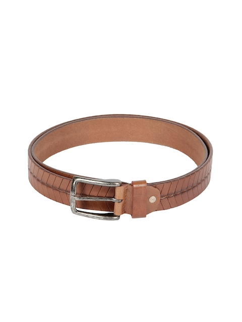 Kara Men Brown Leather Belt