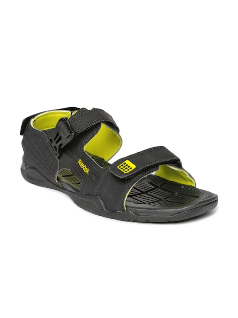 Reebok Men Black Adventure Z Supreme Leather Sports Sandals  available at myntra for Rs.1349