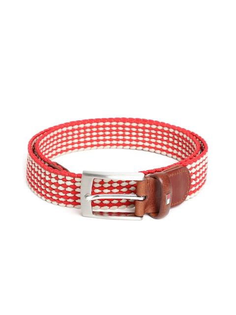 Tommy Hilfiger Men Red & Beige Belt