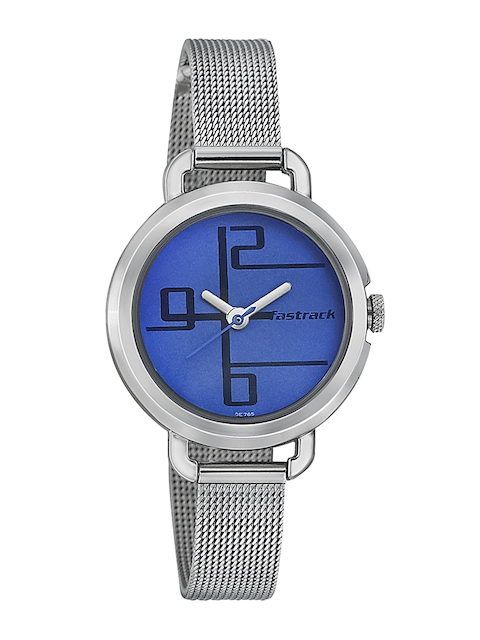Fastrack Women Blue Dial Watch 6123SM01