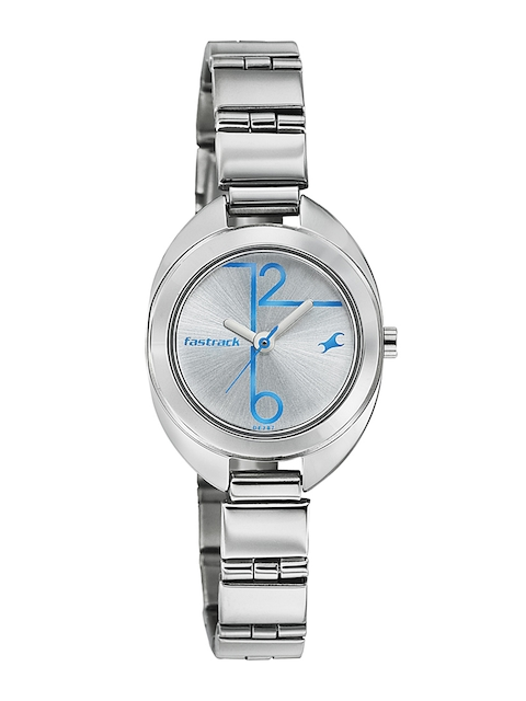 Fastrack Women Silver-Toned Dial Watch 6125SM02