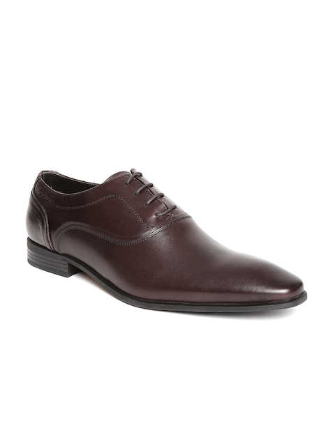 Hush Puppies by Bata Men Brown Leather Formal Shoes