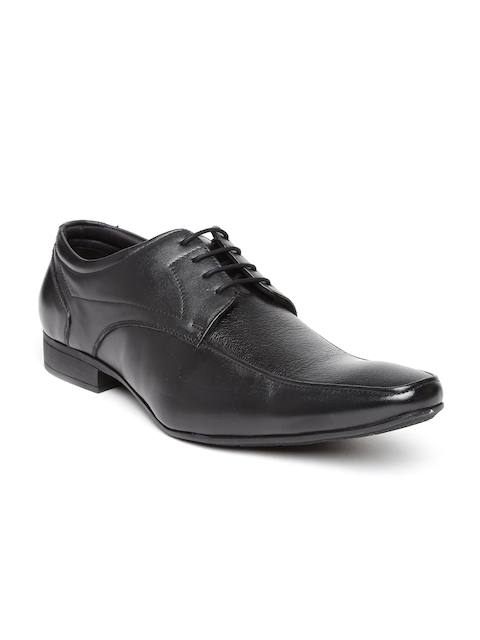 Hush Puppies by Bata Men Black Leather Formal Shoes