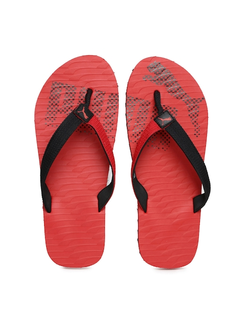PUMA Unisex Red & Black Miami Fashion DP Flip-Flops  available at myntra for Rs.359