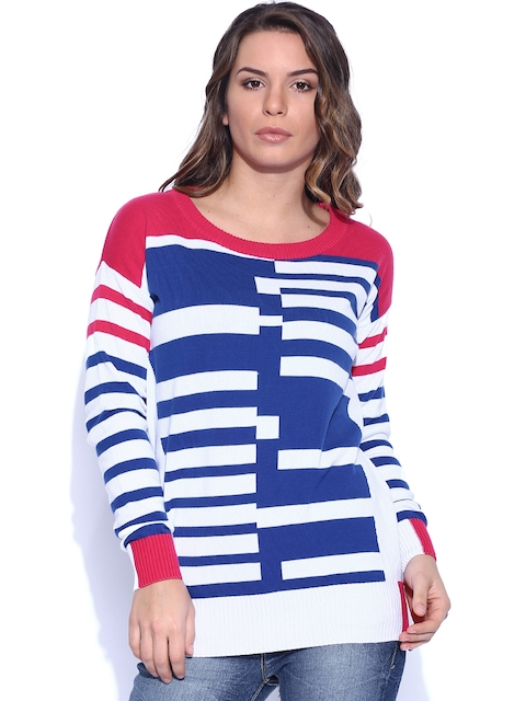 Lee Pink & Blue Striped Sweater