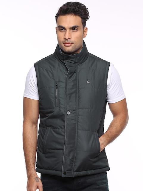 Parx Charcoal Grey Lightly Padded Sleeveless Jacket