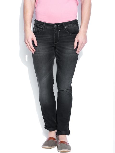 Wrangler Black Skanders Fit Jeans