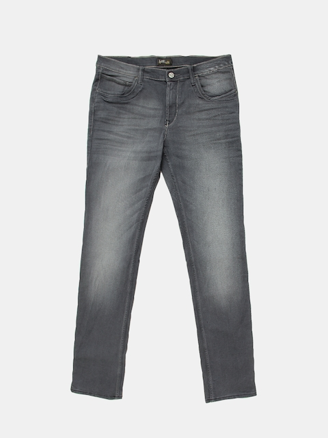 Lee Men Grey Regular Fit Mid-Rise Clean Look Stretchable Jeans