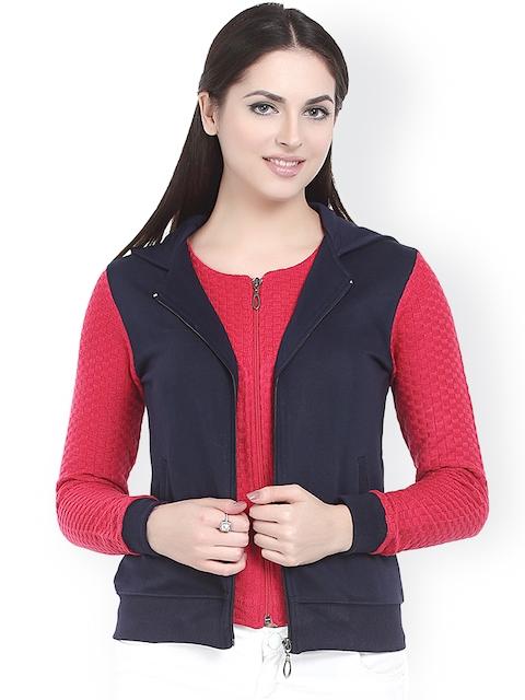 Miss Grace Navy & Red Hooded Sweatshirt