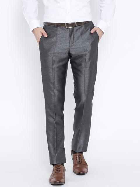 Blackberrys Grey Sharp Fit Formal Trousers