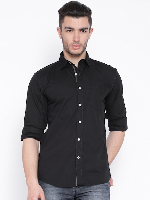 Wrangler Black Casual Shirt