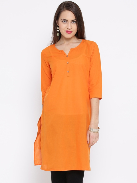Aurelia Orange Kurta  available at myntra for Rs.479