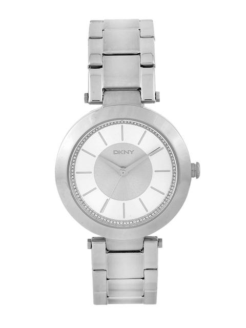 DKNY Women Silver-Toned Stone-Studded Dial Watch NY2285I