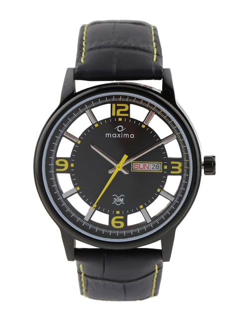 maxima Attivo Men Grey Visible Mechanism Dial Watch 33060LMGB