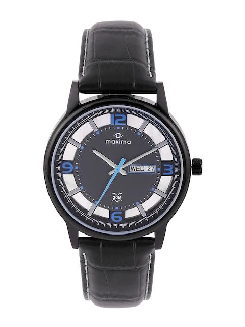 maxima Attivo Men Charcoal Grey Dial Watch 33061LMGB