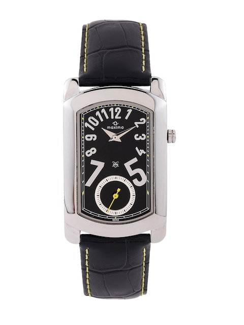 maxima Attivo Men Black Dial Watch 30352LMGI
