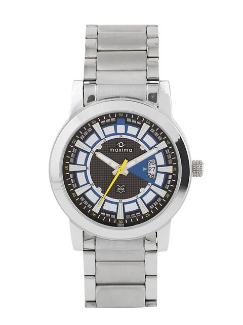 maxima Attivo Men Grey & White Dial Watch 32335CMGI