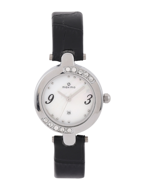 maxima Women White Dial Watch 29435LMLI