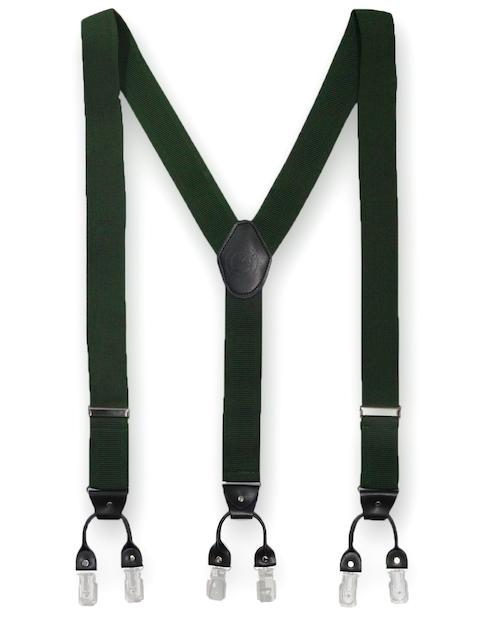 The Tie Hub Men Green Suspenders