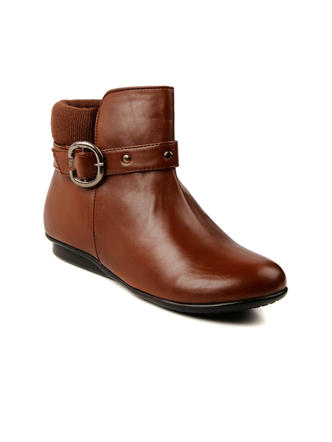 Bruno Manetti Women Tan Brown Boots